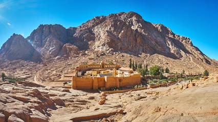 Panorama of St Catherine Monastery, Sinai, Egypt