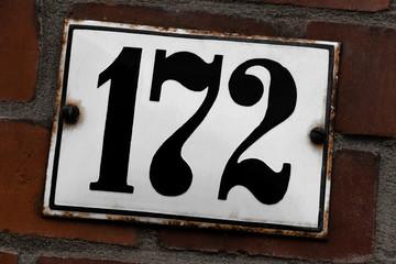 Hausnummer 172