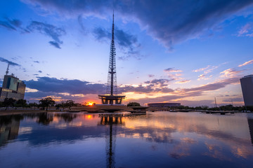 Brasilia TV Tower at sunset - Brasilia, Distrito Federal, Brazil