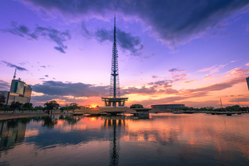 Brasilia TV Tower at sunset - Brasilia, Distrito Federal, Brazil