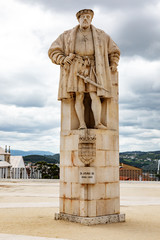Statue of King D. João III of Coimbra Portugal