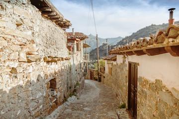 Photo sur Aluminium Cozy narrow street in Pano Lefkara village. Limassol District, Cyprus.