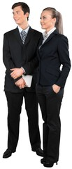 Fototapete - two young professionals