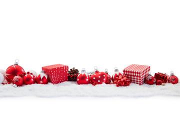 Weihnachten Hintergrund mit Geschenk und Weihnachtskugel