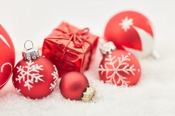 Weihnachten Hintergrund mit kleinem Geschenk