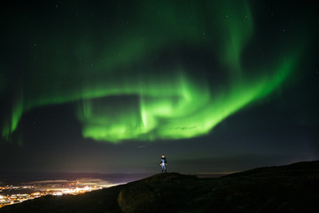 Iqaluit Northern Lights - Self Portrait