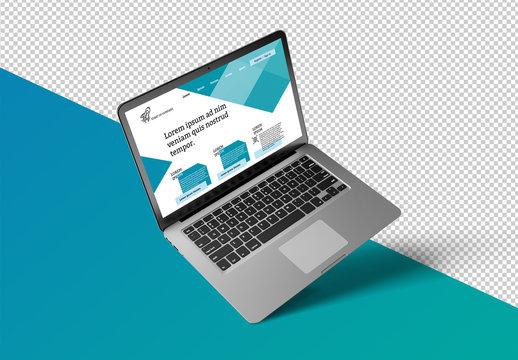 Isolated Laptop Mockup