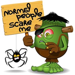 'Normal People Scare Me' Humorous Character