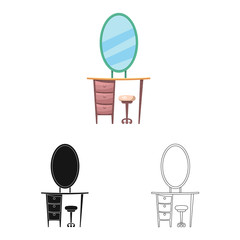 Vector design of furniture and apartment symbol. Set of furniture and home stock symbol for web.