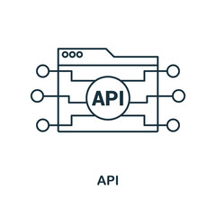 Api outline icon. Simple design from web development icon