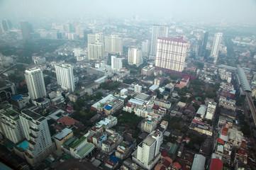 Aerial view of Bangkok modern office buildings, condominium in Bangkok city downtown