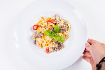 pasta with veal