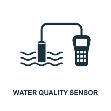 Water Quality Sensor icon. Monochrome style design from sensors icon collection. UI and UX. Pixel perfect water quality sensor icon. For web design, apps, software, print usage.