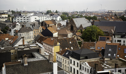 View of Ghent from the height