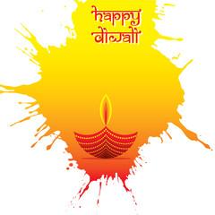 indian big festival diwali poster design