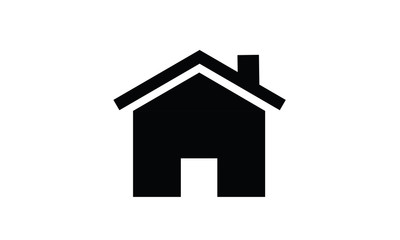 House or home symbol icon black vector sign living building shape real estate