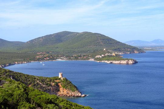 Blue bay at Capo Caccia, Sardinia, Italy