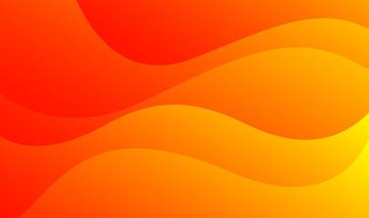 Orange waves background vector. Fluid gradient shapes composition. Futuristic design posters. Trendy.