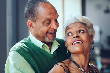 Black Senior Citizen Couple