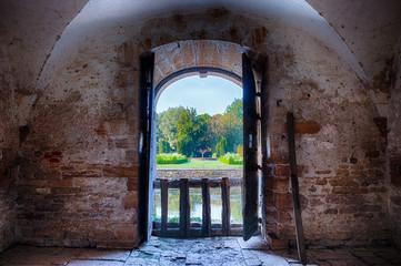 Vue sur les jardins du Château de Cormatin en Bourgogne