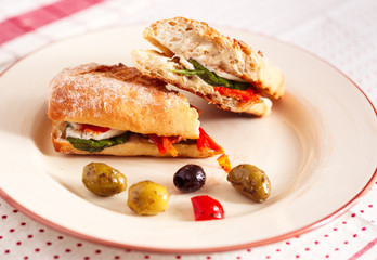 Vegetarian Panini with Olives