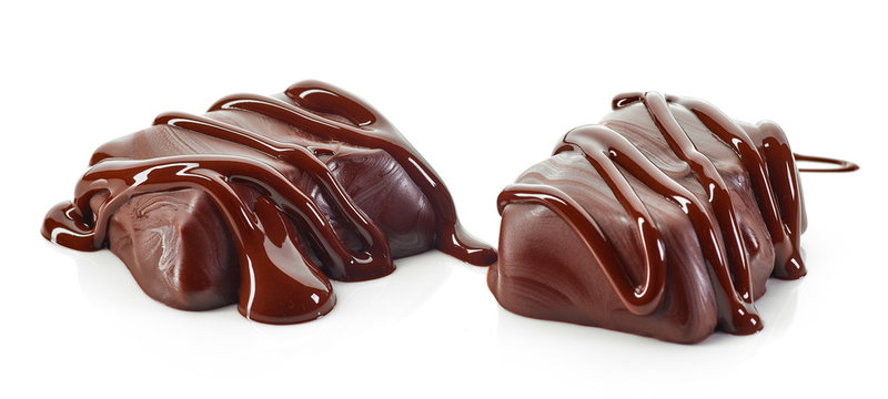 candies with melted chocolate