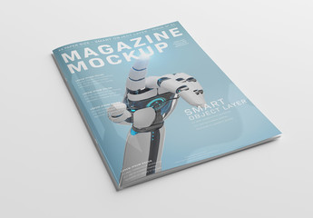 Magazine Cover on White Mockup
