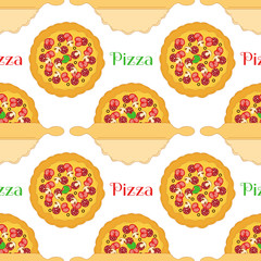 Pizza with rolling pin pattern