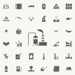oil refinery icon. Oil icons universal set for web and mobile