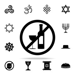 alcohol prohibition icon. Religion icons universal set for web and mobile