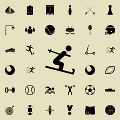 Skier icon. Sport icons universal set for web and mobile