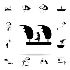 girl in the wind sign icon. Weather icons universal set for web and mobile
