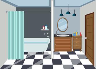 Interior of clean bathroom