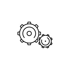 mechanism icon. Element of physics science for mobile concept and web apps icon. Thin line icon for website design and development, app development