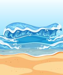 Big wave summer beach
