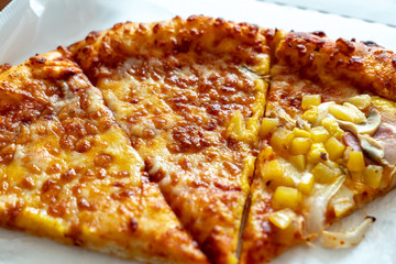 Once in a while we throw a pizza party at home, just ordering over the phone but be careful our health because of carbohydrate food. The various kinds of topping are important factor to select them.