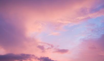 Cloudy sky  morning sun background