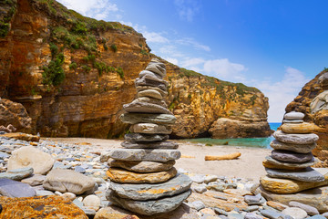 Wall Mural - Playa las catedrales Catedrais beach in Galicia Spain