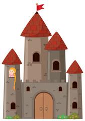 Large castle with princess