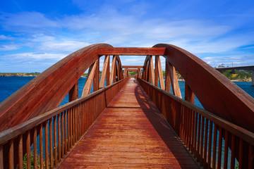 Ribadeo bridge viewpoint over Eo river Galicia Spain