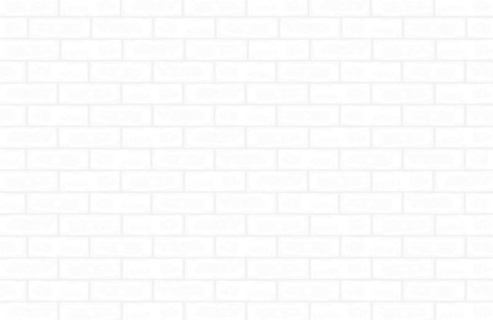 White brick wall pattern and texture for background. Vector.