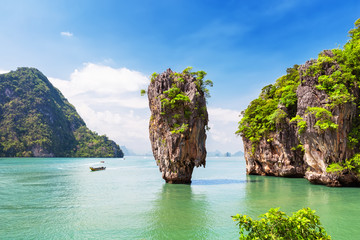 Famous James Bond island near Phuket