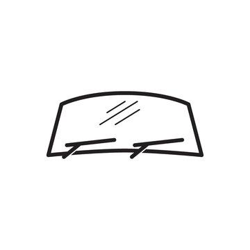 windshield car vector icon