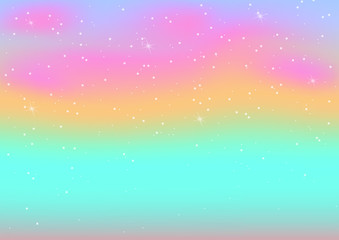 Vector illustration of pastel color abstract background with bokeh