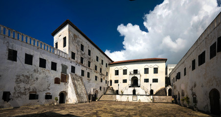 Interior view to Elmina castle and fortress, Ghana