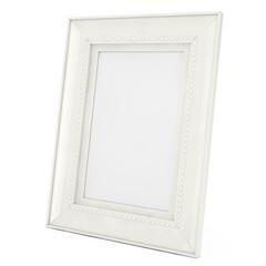 Blank Mock Up White Frame For Photographs. 3d Rendering