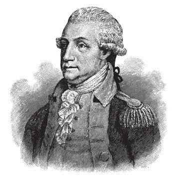 George Washington (1789), vintage illustration