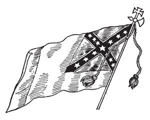 Confederate National Flag - No. 3, vintage illustration