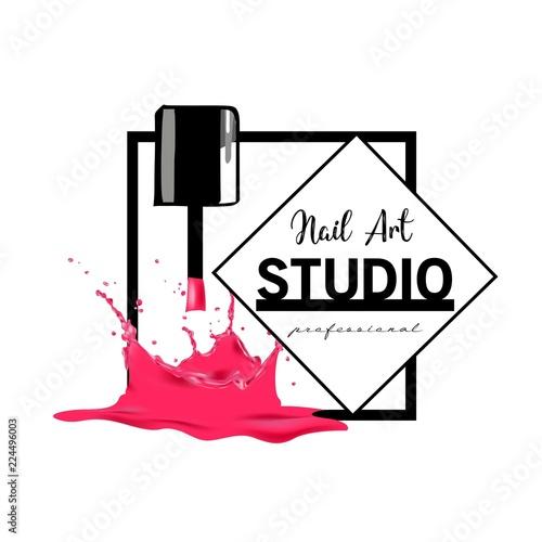Nail Art Studio Logo Design Template Fichier Vectoriel Libre De