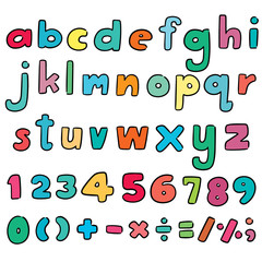 vector set of alphabet and number